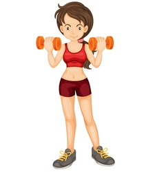 Fitness girl vector image vector image