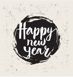 Happy New Year in round vector image