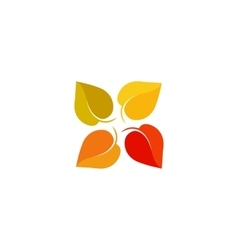 Isolated abstract colorful leaves logo Foliage vector image vector image