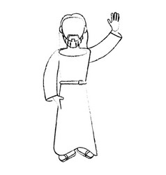 Jesus christ devotion sacrifice image sketch vector