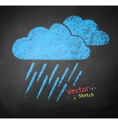 Rainy clouds vector image vector image