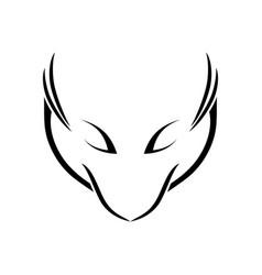 abstract fox lines line art symbol emblem design vector image vector image