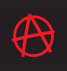 anarchy symbol icon vector image vector image