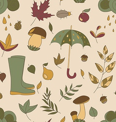 Autumn pattern Seamless texture with autumn vector image vector image