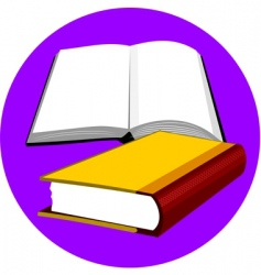book and pen vector image