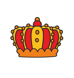 Crown isolated on white background vector
