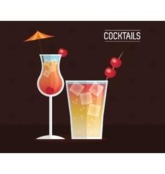 drink menu cocktail restaurant bar design vector image