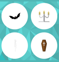 flat icon festival set of candlestick vector image