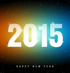Happy new year on night sky vector image