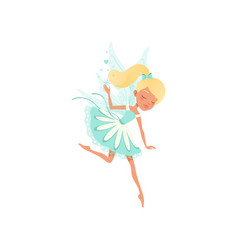 lovely fairy in flying action imaginary fairytale vector image vector image