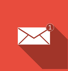 received message concept new email on envelope vector image vector image