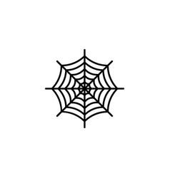 the spiderweb icon vector image