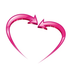 Two pink arrows vector image
