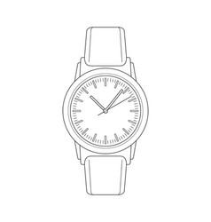 wristwatch sketch vector image vector image