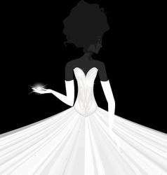 abstract bride vector image