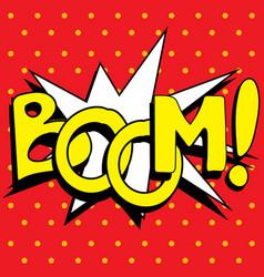 cartoon boom explosion vector image vector image