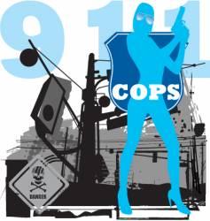 cops vector image