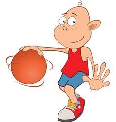 Cute Little Boy Basketball player vector image