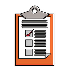 delivery checklist document vector image