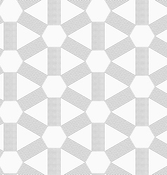 Gray dotted lines forming triangles and hexagons vector image