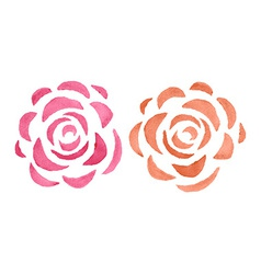 Stylized watercolor roses vector image vector image