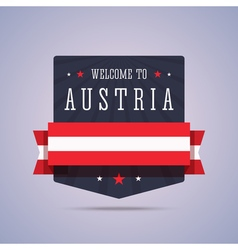 Welcome to Austria badge with national flag vector image vector image