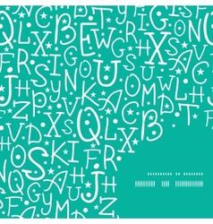 White on green alphabet letters frame corner vector