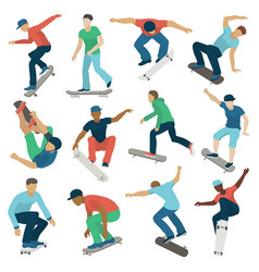 young skateboarder active boys sport extreme vector image