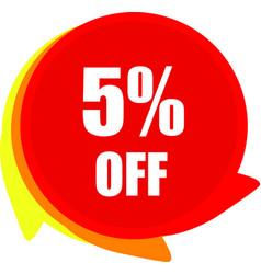 5 percentage off graphics vector