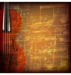 abstract grunge brown cracked music symbols vector image