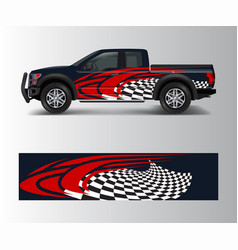Abstract modern graphic design for truck and vector