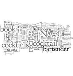 Americas first celebrity bartender vector