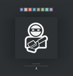 Armed bandit icon vector