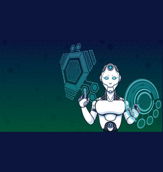 artificial intelligence good background vector image