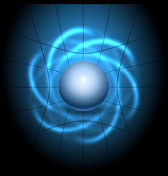 atomic structure background vector image