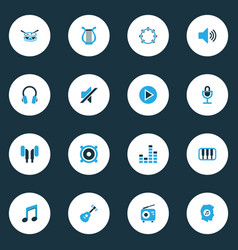 Audio colorful icons set collection of mixer vector