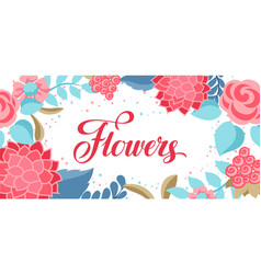 Background with gentle flowers vector