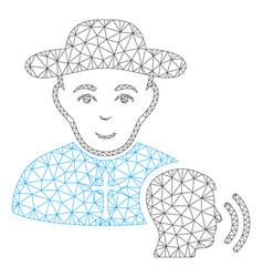 believer confession mesh 2d model vector image