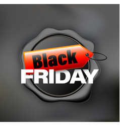 black friday banner wax black vector image
