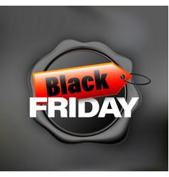 black friday banner wax black vector image
