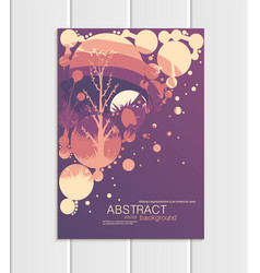 brochure a5 or a4 format abstract circles vector image