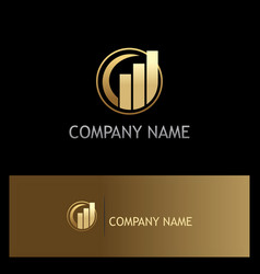 Business finance stock gold logo vector