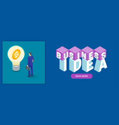 business idea banner vector image