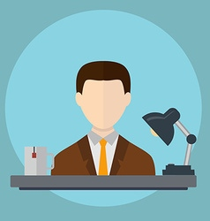 Businessman in office hard Workingvecrtor vector