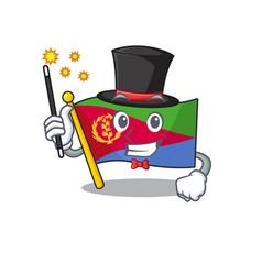 Cartoon character design flag eritrea magician vector