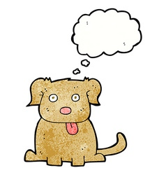 Cartoon dog with thought bubble vector