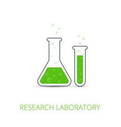 chemistry icon of icon beaker vector image