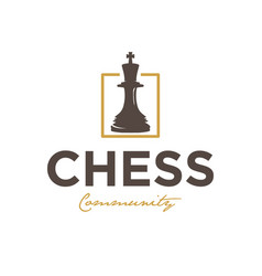 chess community vintage logo design inspiration vector image
