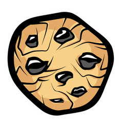 Chocolate chip cookie vector