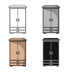 Closet icon in cartoon style isolated on white vector